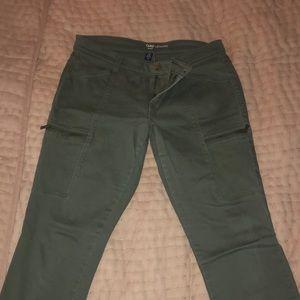 Olive green leggings jeans